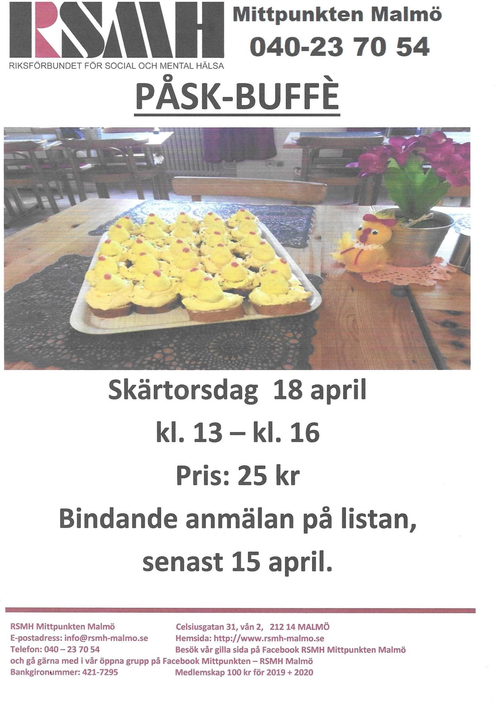 Påskbuffé skärtorsdag 18 april 2019