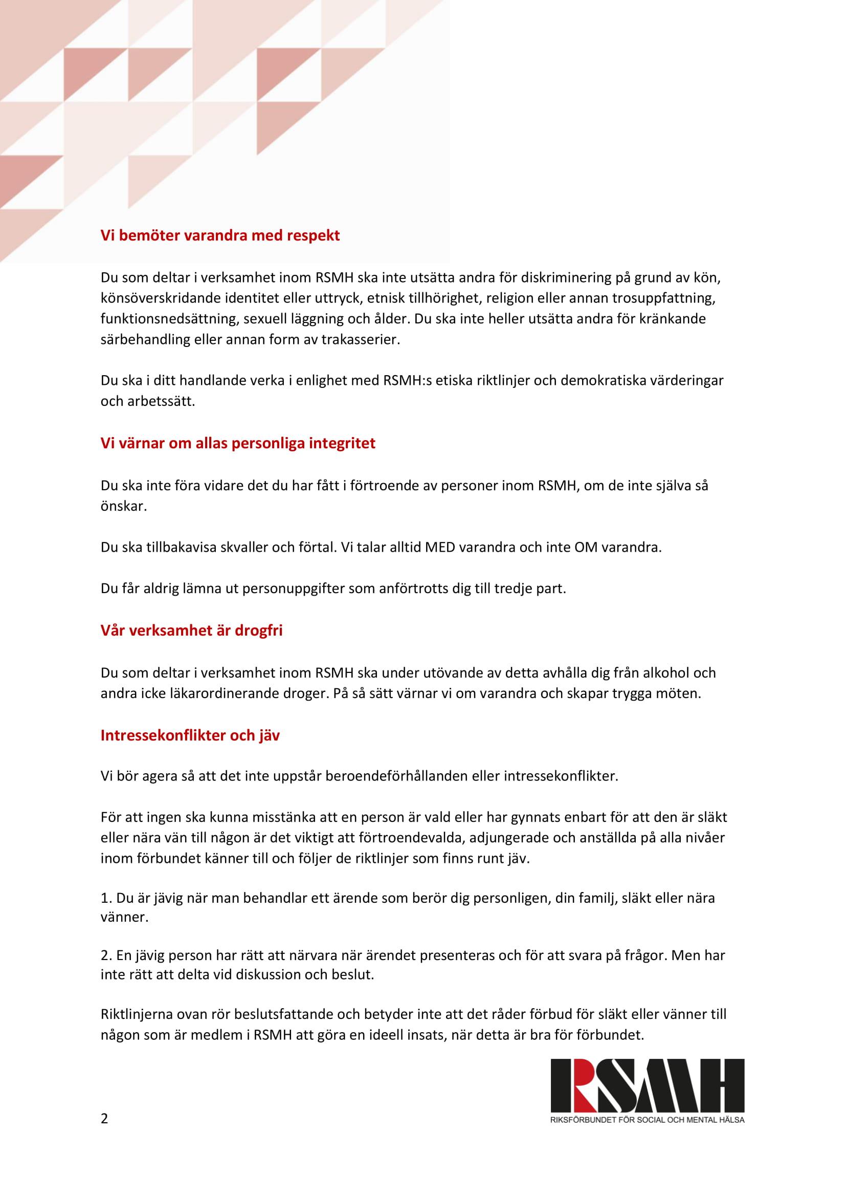 Uppdaterat: Våra etiska normer sida 2 av 2: